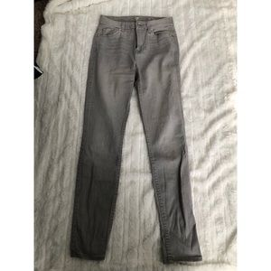 7 for all Mankind- Gray Skinny Jeans- Size 24